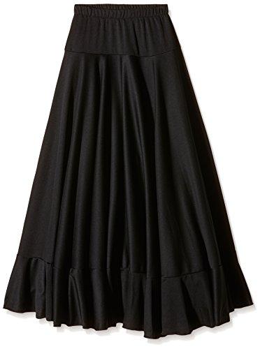 Happy Dance 147 - Falda de flamenco para mujer, color negro, talla 12