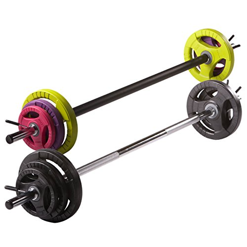 physical-company-bar-set-de-bombas-pesos-eleccion-de-discos-y-barra-fitness-coloured-discs-rubber-co