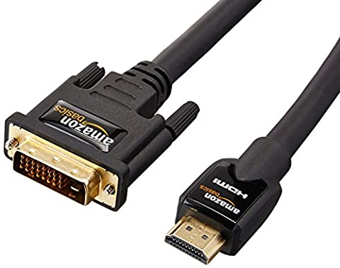 AmazonBasics HDMI to DVI Adapter Cable - 7.6 m / 25 Feet