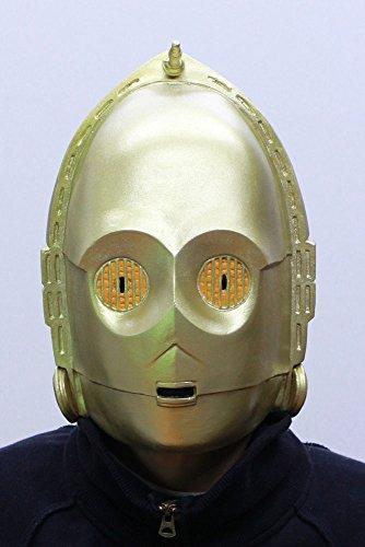 Star Wars Maske (kompletter Kopf) Kostüm - Fasching Party Karneval (C3po Maske)