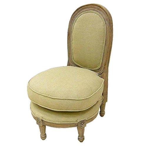 Better & Best 0564011 - Sillón de Dormitorio de Madera, tapizado, bajo, Color Topo, Madera/algodón, Color Topo, 49x52x78 cm