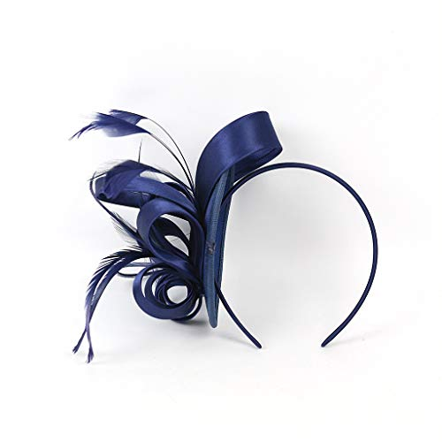 YWLINK Fascinators Hut Blume Mesh BäNder Federn Auf Einem Stirnband Cocktail Tanzparty Party Retro Headwear FüR MäDchen Und Damen 1920er Jahre ZubehöR Stirnband Klassisch