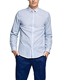 ESPRIT Herren Smoking Hemd Fine Stripe