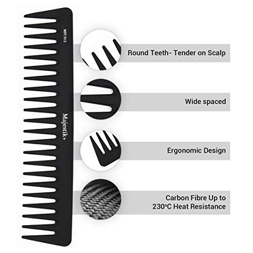 Peine pelo fibra carbono profesional Majestik+, antiestático