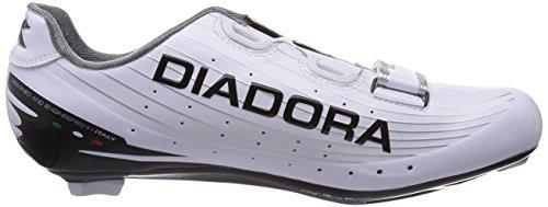 Diadora SPEED VORTEX, Chaussures de cyclisme spéciales vélo de course mixte adulte Blanc - Weiß (weiß/schwarz 3510)