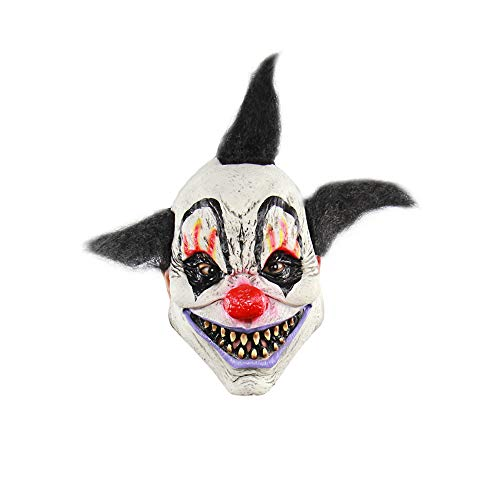 Cdet 1x Horror Maske Halloween Neuheit Latex Horror Spuk Kopf Masken Cosplay Karneval Maskerade Kostüm (Zauberer Clown)
