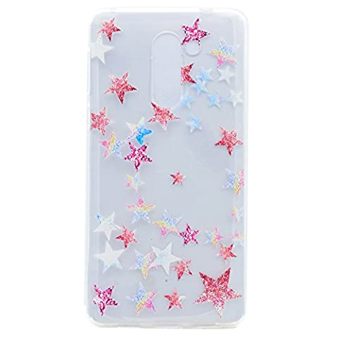 Lonchee Xiaomi Mi Mix Case Cover, Color printing pattern Transparent Clear Soft TPU Bumper Back Cover Skin Protective Cover Cell Phone Case for Xiaomi Mi Mix - Five-pointed star