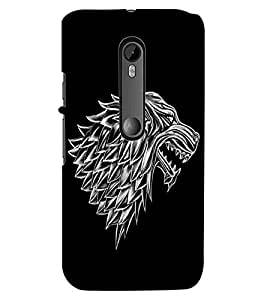 ColourCraft Scary Animal Look Design Back Case Cover for MOTOROLA MOTO G TURBO EDITION