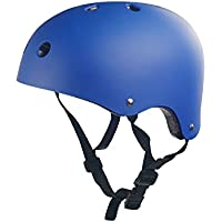 Flowerrs Casco Scooter Casco de Seguridad para niños Forma de Ciruela Orificio de disipación de Calor Casco de equitación para niños (Azul Oscuro) Skate Helmet