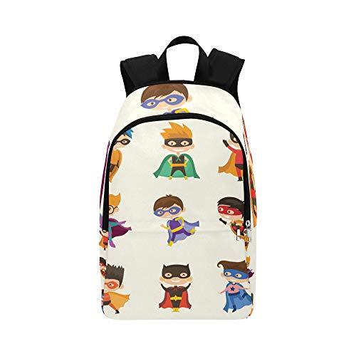 Cute Superhero Kids Casual Daypack Reisetasche College School Rucksack für Männer und ()