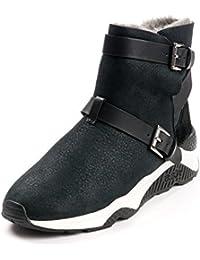 Ash Zapatos Mochi Botines de Ante Negro Mujer