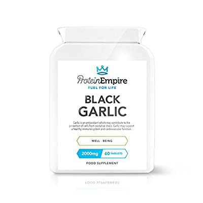 Protein Empire High Strength Black Garlic Extract 2,000mg 60 Tablets 2 Month Supply Suitable For Vegetarians & Vegans by Protein Empire