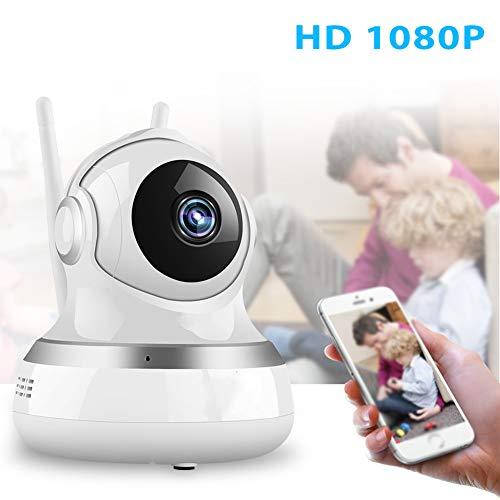 GKBMSP Babyphone WiFi-Überwachungskamera für zu Hause 1080P FHD mit IR Infrarot Nachtsicht Bewegungserkennung Pan Tilt 2-Wege-Audio für iOS, Android und Windows PC-Gerät Tilt-hd-pc