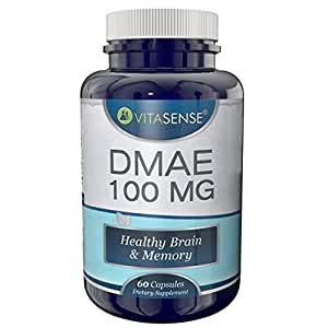 VitaSense Dmae 100mg - Cerveau and Mémoire Sains - 60 Capsules by TARGARIAN