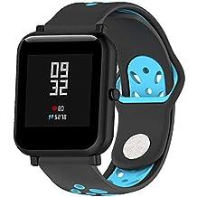 ❀para Huami Amazfit Bip Watch, Banda de Reloj de Silicona Suave de Doble Color