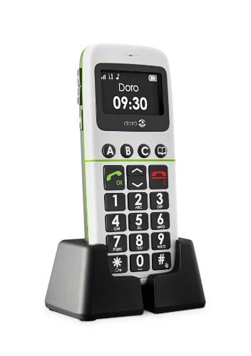 Doro PhoneEasy 338gsm Mobiltelefon (Notruftaste, 3 Direktwahltasten, große Tasten) weiß
