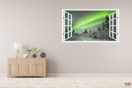 3d-window-frame-style-high-quality-wall-art-sticker-spectacular-aurora-borealis-northern-lights-1000