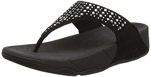FitFlop Novy, Sandales Plateforme femme Noir - Black (Black 001)