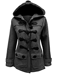 CANDY FLOSS VESTE POLAIRE DAMES STYLE DUFFLE MANTEAU TOGGLE TAILLE 8-20