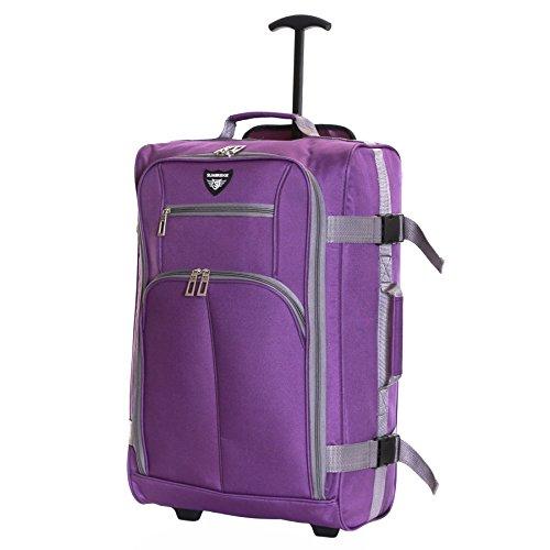 Slimbridge Lobos super leggero 55 cm bagaglio a mano con ruote, Viola