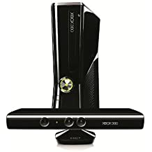 Xbox 360 - Konsole Slim 250 GB inkl. Kinect Sensor + Kinect Adventures, schwarz-glänzend