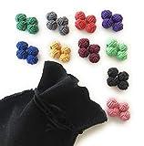 GENTLEMAN: 10 hochwertige einfarbige Seidenknoten Manschettenknöpfe