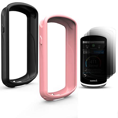 TUSITA Schutzhülle für Garmin Edge 1030, Silikon Hülle mit Displayschutz für Garmin Edge 1030 GPS Fahrradcomputer (2-Pack)