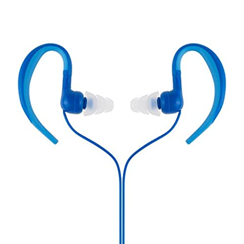 Waterproof Headphones,AGPtEK SE01 IPX8 Headphones with Ear Hook for Sport & Swimming, Blue