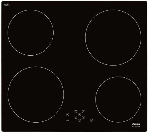 Amica-KMI-13325-C-Kochfeld-Elektro-Induktion-576-cm-4-Power-Booster-Kochzonen-Glaskeramik-schwarz