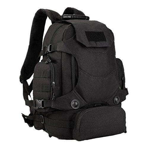 Desert Camo Stoff (40L Multifunktionale taktische Rucksack mit kombination / Molle rucksack / Bug out Tasche / Armee fans camouflage bergsteigen taschen / Gürteltasche (schwarz))