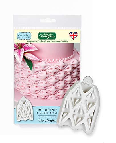 Molde de silicona Easy Fabric Puff, sistema de pastel creativo Ceri Griffiths para pasteles, manualidades...