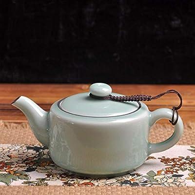 Théière En Céramique Céramique Kung Fu Tea Set_Céramique Kung Fu Tea Set Théière Ice Crack Longquan Celadon Théière