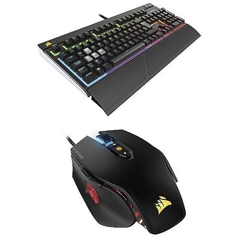 Im Set: Corsair STRAFE RGB Silent Tastatur + M65 RGB Gaming Maus