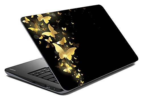 meSleep Butterfly Golden Laptop Skin