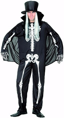 YOU LOOK UGLY TODAY Karneval Halloween Skelett Kostüme Costumes für Herren Erwachsene - M/L - 56