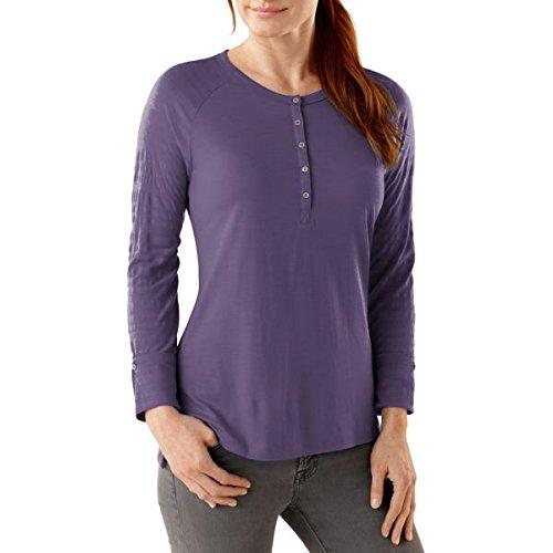 Smartwool Burnout Henley t-shirt pour femme Violet - Desert Purple