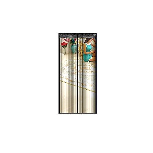 A&j magnet gauze encryption summer zanzariera tenda zanzariera salmone porta cucina schermo magnetico 100*210 cm