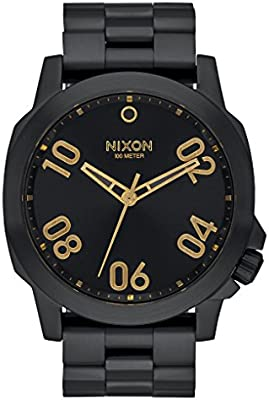 Nixon Ranger 45, Color: All Black / Gold, Size: One Size