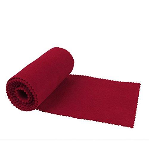 LEORX 128 * 15CM Klaviertastatur Staubschutzhaube Tastaturabdeckung Tuch (Rot)