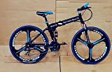 R CYCLES Foldable Adventure Prime Sports MTB Cycle with 21 Derailleurs (Black)