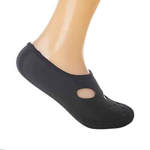 Provide Unisex 3MM Strand Socken Hausschuhe Wasserschwimmen Tauchen Surfen Schuhe Socken black & XL40-43