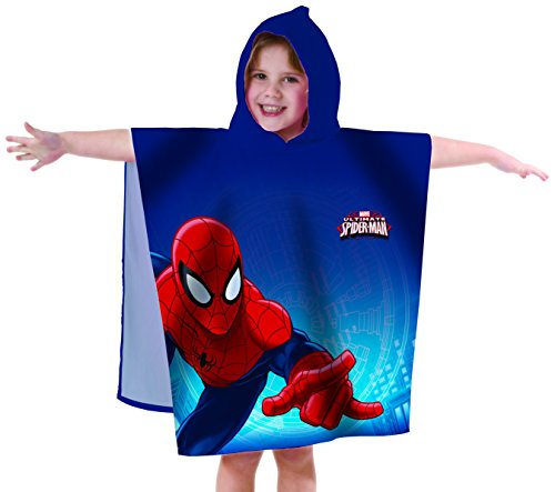 Spiderman 042484 Badeponcho Ultimate, Baumwolle velours, 60 x 120 cm