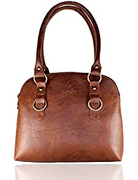 Fargo Joint PU Leather Women's & Girl's Shoulder Handbag (Brown_FGO-001)