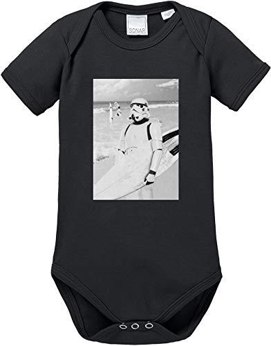 EZYshirt® Stormtrooper Baby Body Kurzarm Bio Baumwolle