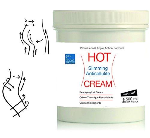 fettverbrennung creme HOT CREAM Sport und Anti-Cellulite Creme 500 ml zur Verbesserung der Haut Kontur, mit angenehmen Wärme-Effekt und erfrischenden Duft, enthält Zimt und Algen? made in France