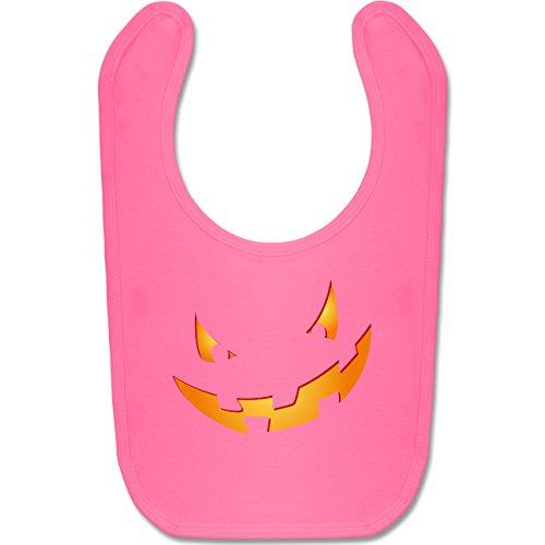 Shirtracer Anlässe Baby - Kürbisgesicht klein Pumpkin - Unisize - Pink - BZ12 - Baby Lätzchen Baumwolle