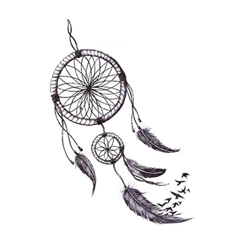 HLHN 7 Verschiedene Muster Ungiftig Wasserdichte Temporäre Tattoos 3D Body Art Dreamcatcher Umweltschutz Gefälschte Tattoos Aufkleber (G)
