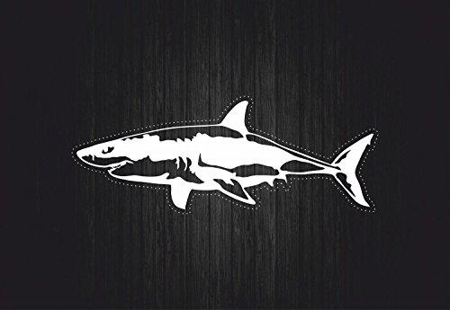 Preisvergleich Produktbild Aufkleber Sticker Auto Motorrad Tuning Hai Shark MacBook Vinyl ref3