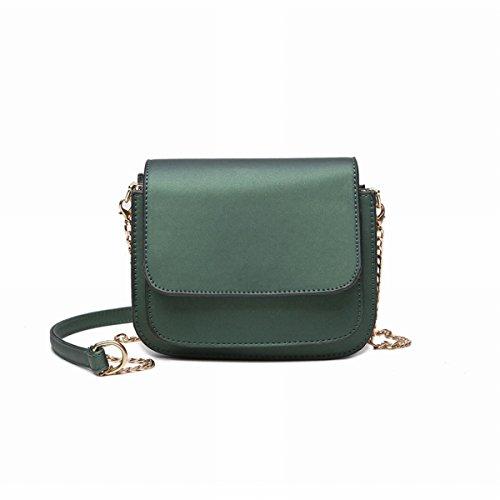 Weibliche einfache Kette kleine quadratische tasche Schulter messenger bag Mini tasche Grün