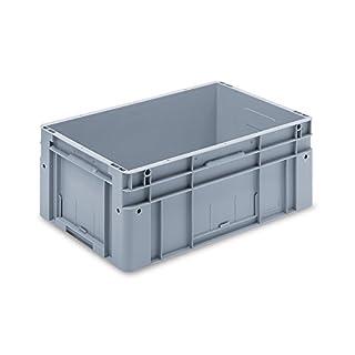 utz Euronorm-Stapelbehälter - Außen-LxBxH 600 x 400 x 270 mm - grau, VE 1 Stk - Box Euronorm Stapelkasten Euronorm Stapelkästen Euronorm-Stapelbehälter Euronorm-Stapelkasten Kiste Lagerkasten Mehrweg-Behälter Stapelkasten Transportkiste aus Kunststoff